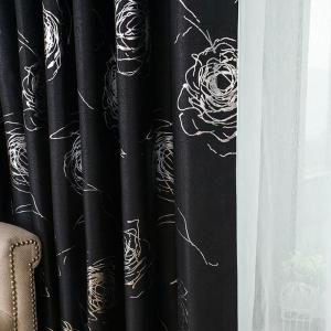 European Style Embossed Hot Silver Process Living Room Bedroom Curtains -