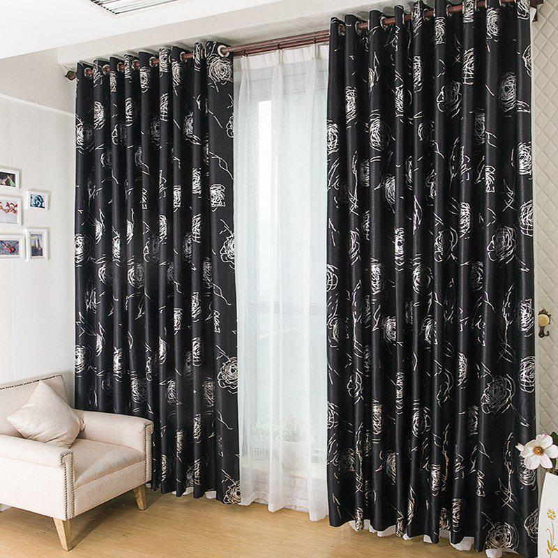 Outfits European Style Embossed Hot Silver Process Living Room Bedroom Curtains