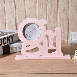 Photo Frame Cute Girl Wooden Display Desk Decor -