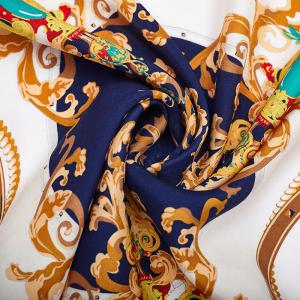 2017 Luxury Women Satin Silk Scarf Fashion Print Small Square Scarves -
