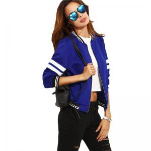 Women's Short Long Sleeves Zipper Jacket -