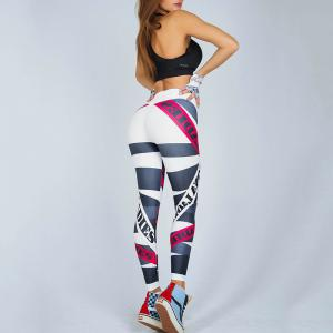 Women's Fashion Letters Printed Elastic Pants -