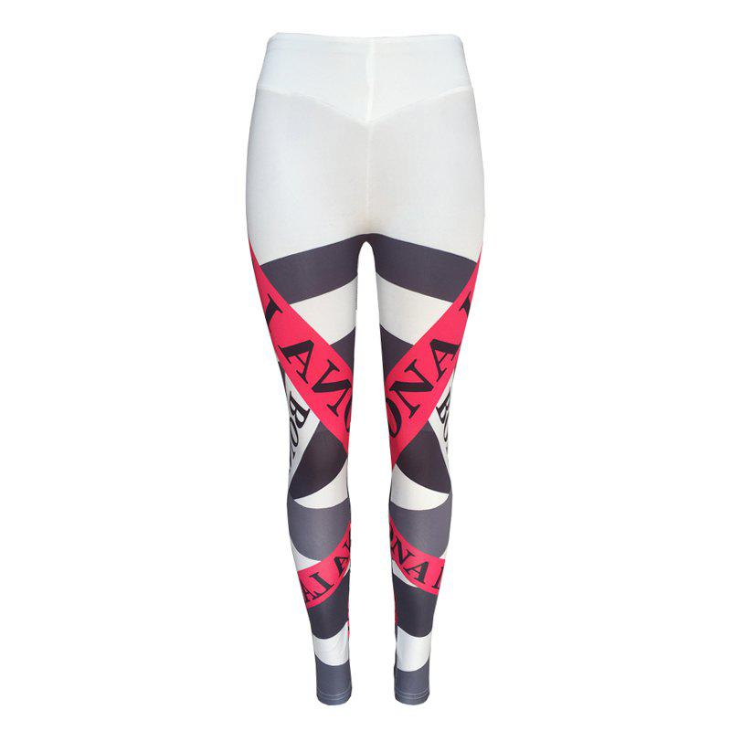 New Women's Fashion Letters Printed Elastic Pants