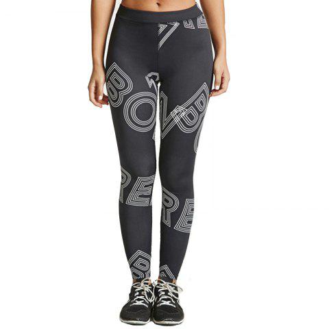 Fashion Women's Fashion Printing Quick-Drying Elastic Pants