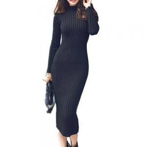 The New Slim Warm Long Paragraph Sweater Dress -