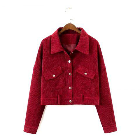 Outfits New Ladies' Autumn Corduroy Retro Jacket