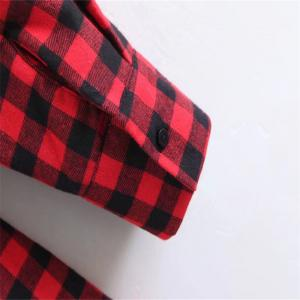 2017 New Ladies Red Checked Dress -