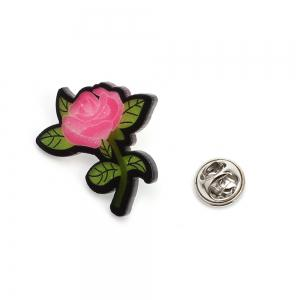 Creative Rose Brooch New Acrylic Plate Personality Brooch Female Accessories -