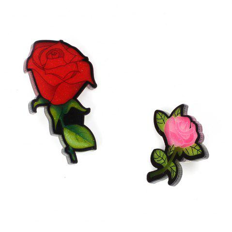 Cheap Creative Rose Brooch New Acrylic Plate Personality Brooch Female Accessories