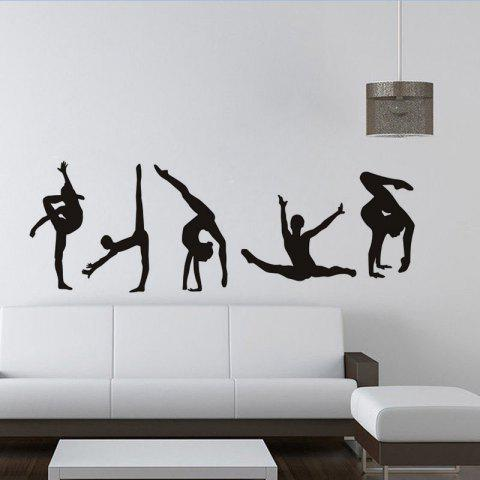 Black Xcm Dsu Ballerina Custom Wall Sticker Ballet Dance Vinyl - Custom vinyl wall decals dance
