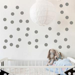 ... DSU Gold Polka Dots Wall Decal Baby Nursery Children Home Decor ... Part 65