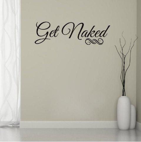 Superbe Outfit DSU Get Naked Wall Decal Vinyl Bathroom Wall Art Stickers