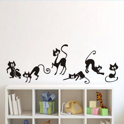 Incroyable Best DSU Cute Cat Wall Stickers , Set Of 6 Funny Cute Cat Vinyl Wall Decal