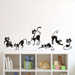 DSU Cute Cat Wall Stickers , set of 6 funny cute cat vinyl wall decal stickers