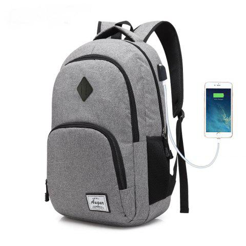 Shops AUGUR Men Women Backpacks USB Charging Male Casual Travel Teenager Student School Notebook Laptop Bag
