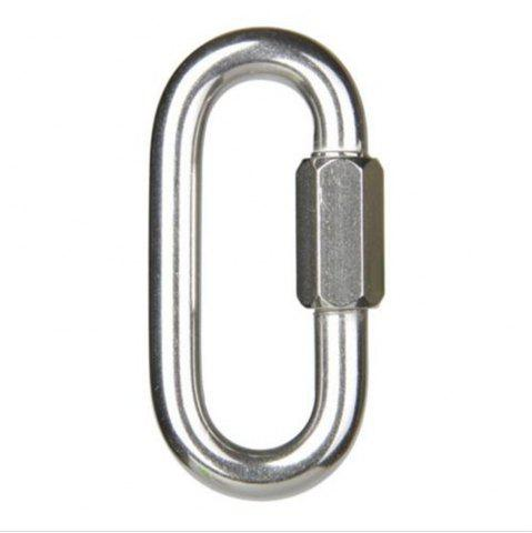 Hot Solid Fine Steel Oval Lock Rock Climbing Carabiner Safety Bearing