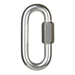 Solid Fine Steel Oval Lock Rock Climbing Carabiner Safety Bearing -