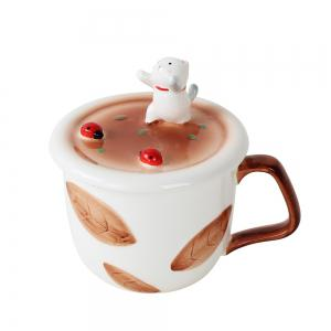 350ML Creative Animal Mobile Phone Bracket Ceramic Mug -
