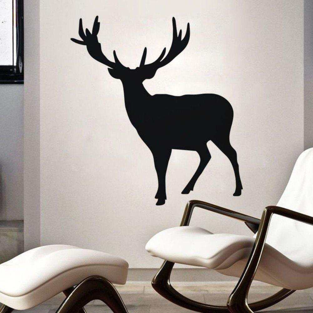 DSU Elk Pattern Christmas Minimalist Wall Art Stickers JK800HOME<br><br>Color: BLACK; Brand: DSU; Type: Plane Wall Sticker; Subjects: Animal,Christmas,Leisure,Others; Art Style: Plane Wall Stickers; Function: Decorative Wall Sticker; Material: Vinyl(PVC); Suitable Space: Bedroom,Cafes,Dining Room,Game Room,Girls Room,Hotel,Kids Room,Kids Room,Living Room,Office,Study Room / Office; Layout Size (L x W): 58cm x 63cm; Effect Size (L x W): 58cm x 63cm; Quantity: 1;