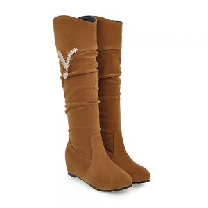 Women's Boots Solid Color Platform Elegant All-match Chic Shoes -