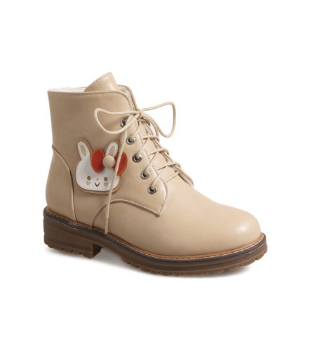 Outfit Women's Short Boots Classic Fashion Design Lacing Flat Shoes