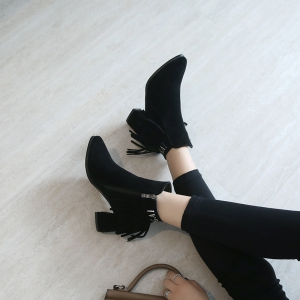 Women's Brief Solid Color Tassel Decorative All-match Shoes -