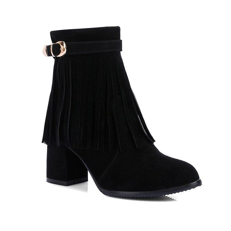 dc1e6027234 Fashion Women's Ankle Boots Tassel Ornament Pointed Toe All Match Boots