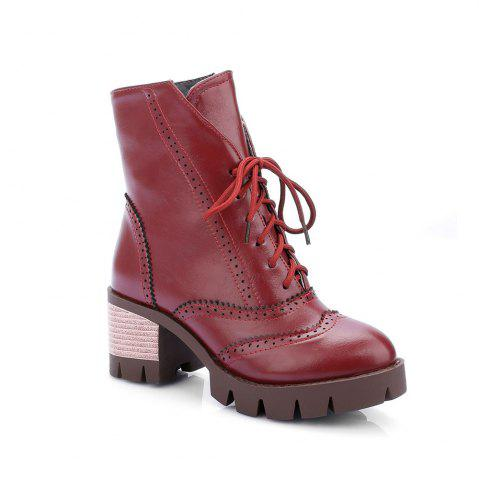 Outfits New Style High Heel English Short Sleeve Boots Students Retro Short Boots