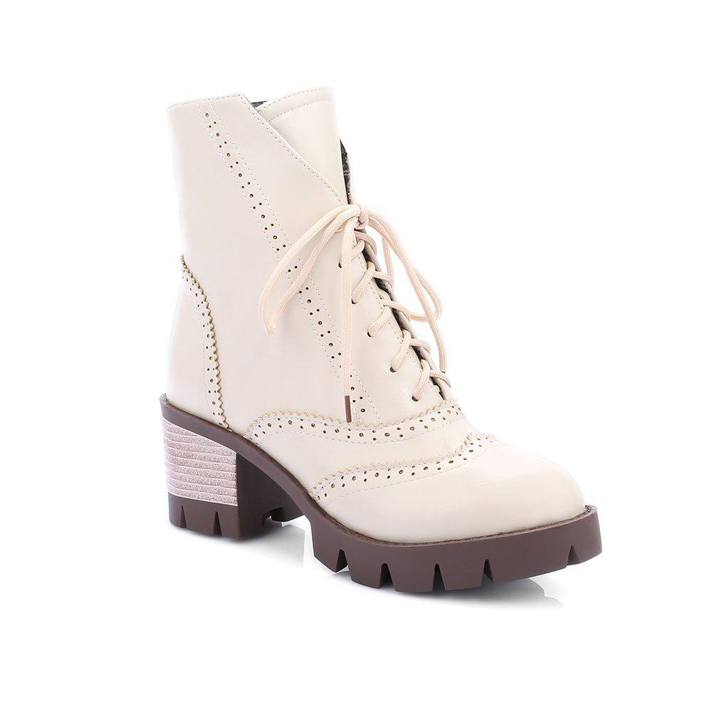 Cheap New Style High Heel English Short Sleeve Boots Students Retro Short Boots