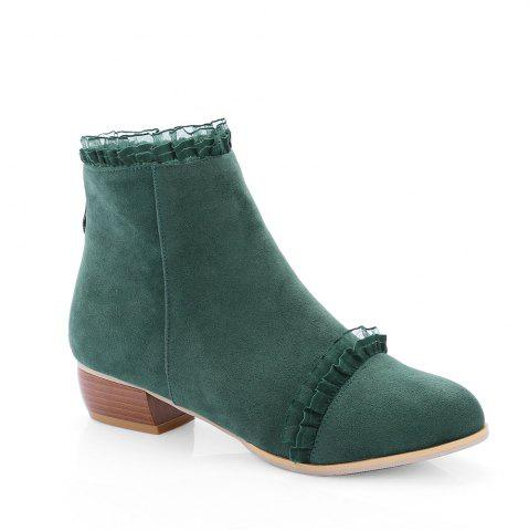 Online New Style Spring and Autumn Boots Low Heel Lace Scrub Boots
