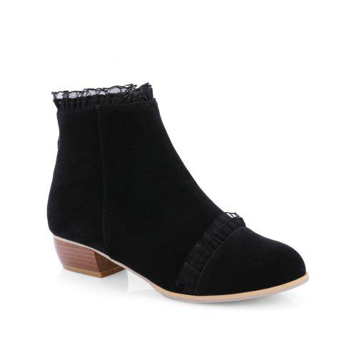 Outfits New Style Spring and Autumn Boots Low Heel Lace Scrub Boots