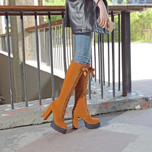 New Fashion Lace High Heeled Boots -