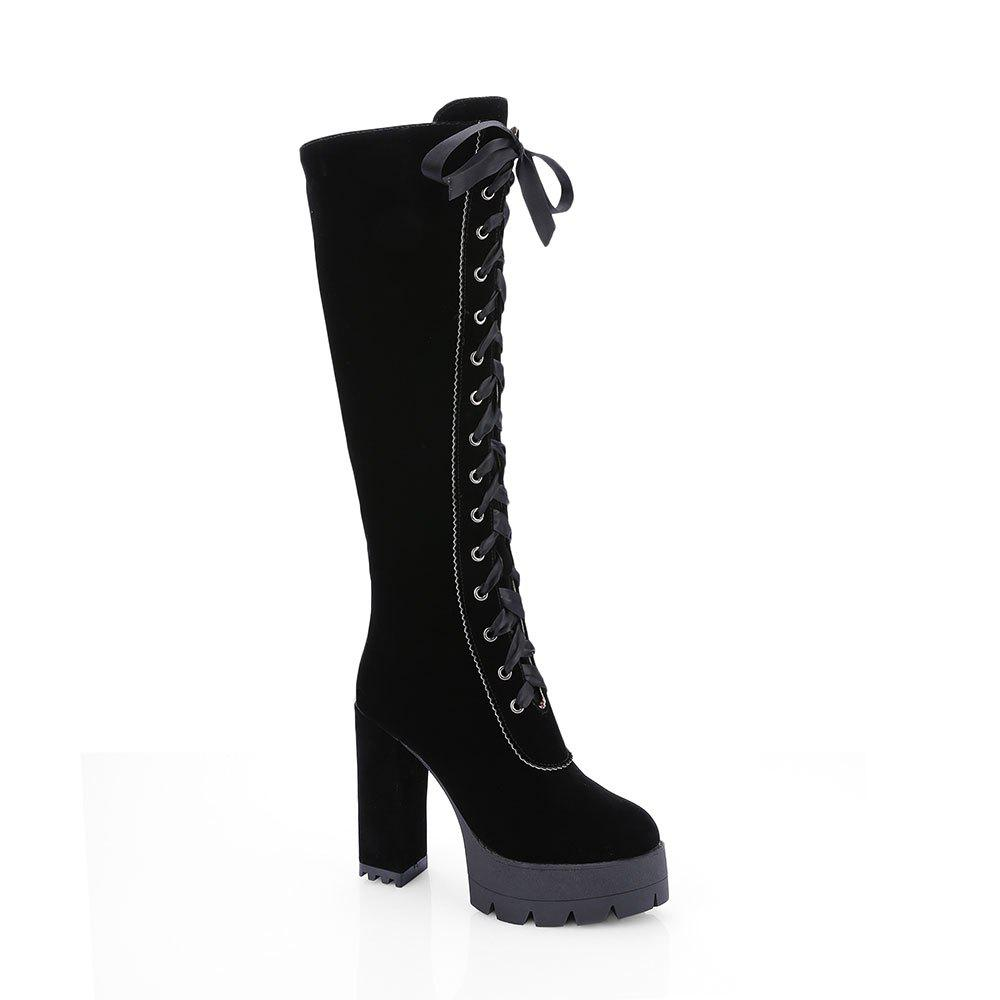 Latest New Fashion Lace High Heeled Boots