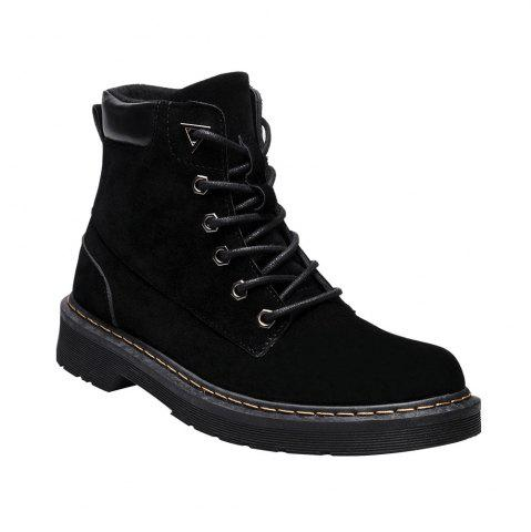 Fashion Women Stitching Suede Lace Up Ankle Boots