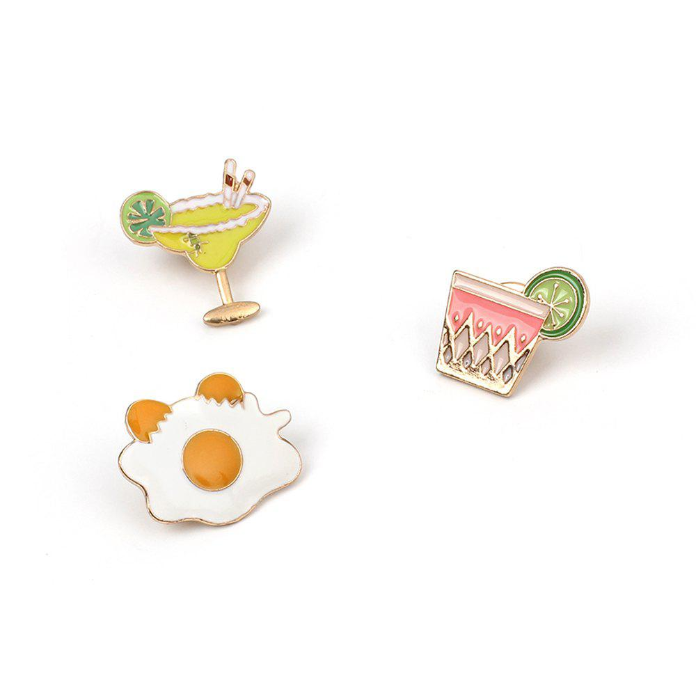 Outfit Cute Cartoon Japanese Style Fried Egg Drop Oil Brooch Female Fashion Women Accessories