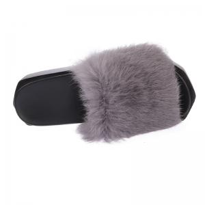 Hot Women Slippers Fashion Spring Winter Autumn Faux Fur Height 7CM Shoes -