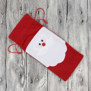 Santa Claus Bottle Decoration Bag -