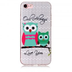 Owl Pattern Soft TPU Anti-scratch Back Cover Case for iPhone 6 -