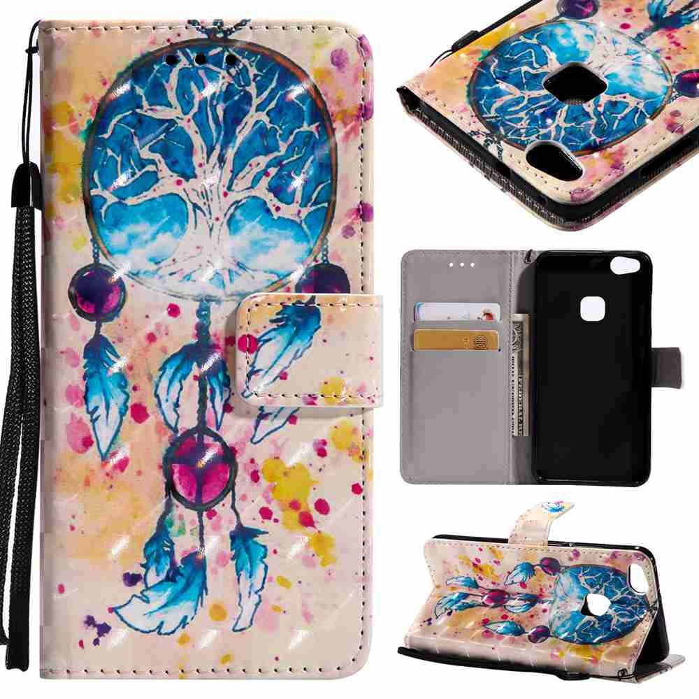 Affordable Explosions 3D Painted PU Phone Case for HUAWEI P10 Lite
