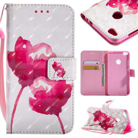 Unique Explosions 3D Painted PU Phone Case for HUAWEI P8 Lite 2017