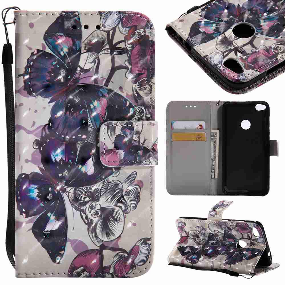 Online Explosions 3D Painted PU Phone Case for HUAWEI P8 Lite 2017