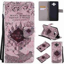 Castle Painted Pu Phone Case for HUAWEI Mate 10 -