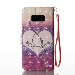 Wkae Multicolour Pattern Leather Case for Samsung Galaxy S8 -