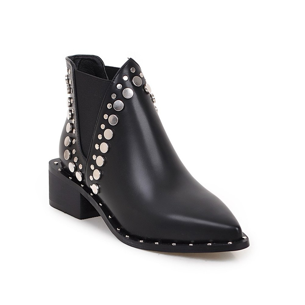 Buy Women's Martin Boots Patchwork Rivet Decorative Classy Style Faddish Shoes