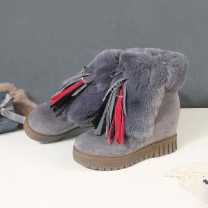 New Cashmere Fashion Snow Boots Warm Thick Soled Boots -