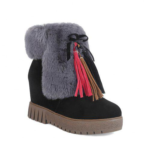 Cheap New Cashmere Fashion Snow Boots Warm Thick Soled Boots
