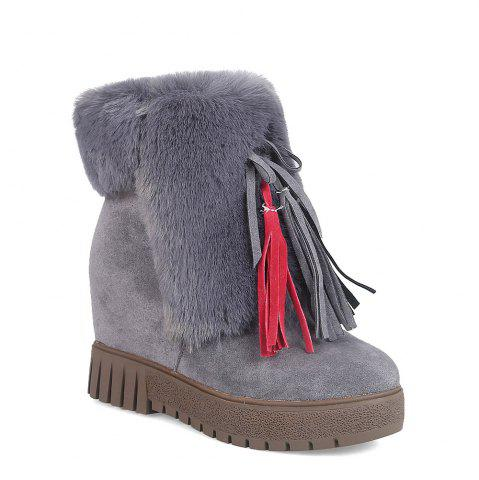 Latest New Cashmere Fashion Snow Boots Warm Thick Soled Boots