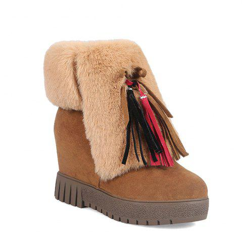 Unique New Cashmere Fashion Snow Boots Warm Thick Soled Boots