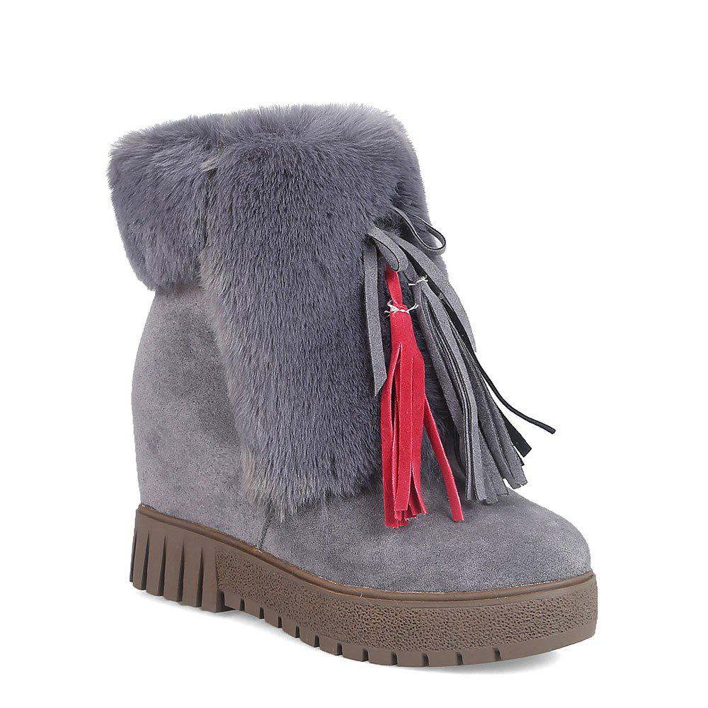 Fashion New Cashmere Fashion Snow Boots Warm Thick Soled Boots