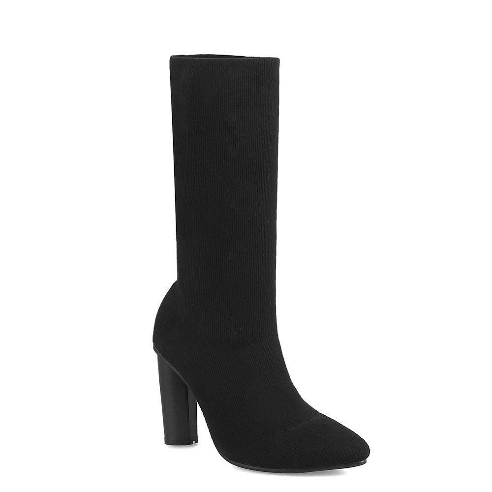 Online European and American Wind Pointed spring Stretch Socks Women's Short Boots